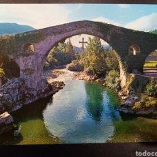 Postales: PISTAL DE. CANGAS DE ONIS. ASTURIAS PUENTE ROMANO.. Lote 236132085