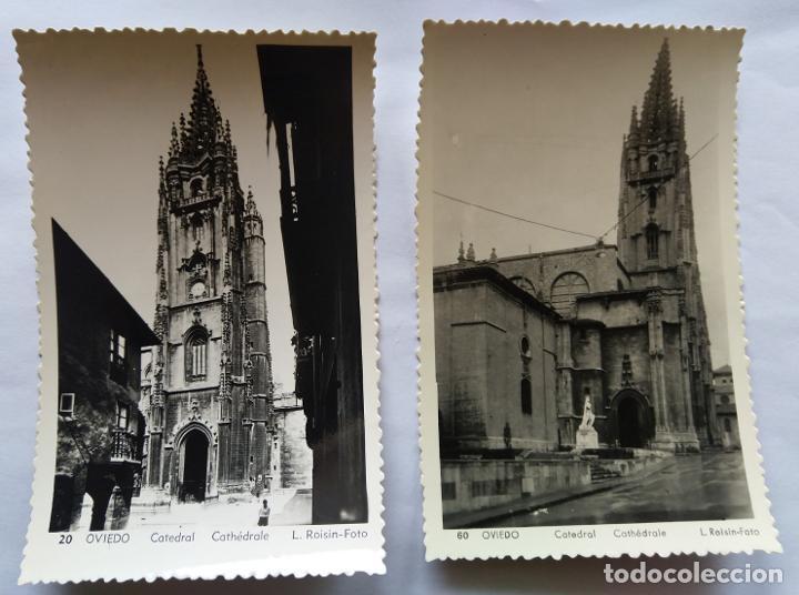 OVIEDO LOTE 2 POSTALES (Postales - España - Asturias Antigua (hasta 1.939))
