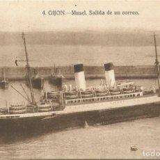 Postales: GIJON. - MUSEL, SALIDA DE UN CORREO. Nº4. GRAFOS.SIN CIRCULAR.. Lote 241956545