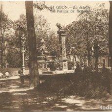 Postales: GIJON. - UN DETALLE DEL PARQUE DE BEGOÑA. Nº24. GRAFOS. SIN CIRCULAR.. Lote 241956975