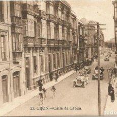 Postales: GIJON. - CALLE DE CÁPUA. Nº23. GRAFOS. SIN CIRCULAR.. Lote 241957415