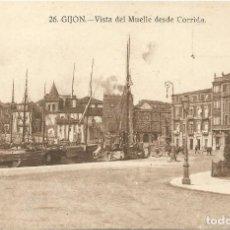 Postales: GIJON. - VISTA DEL MUELLE DESDE CORRIDA. Nº26. GRAFOS. SIN CIRCULAR.. Lote 241959215