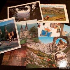 Postales: LOTE 8 POSTALES COVADONGA, PICOS DE EUROPA, LAGO ERCINA, JUAN PABLO II, ASTURIAS. Lote 243021585
