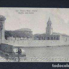 Postales: POSTAL ASTURIAS GIJON SAN PEDRO - HAUSER Y MENET - LA NUEVA - CA 1909. Lote 243025965