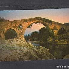 Postales: 82.- CANGAS DE ONIS, PUENTE ROMANO AL ATARDECER. Lote 243356780