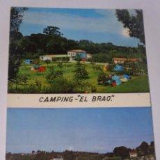 Postales: ANTIGUA POSTAL CPSM, CAMPING EL BRAO, ASTURIAS, VER FOTOS. Lote 243625015