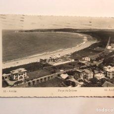 Postales: AVILES. POSTAL NO.30, PLAYA DE SALINAS., EDIC. ARRIBAS (A.1951) CÍRCULADA... Lote 243666395