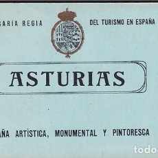 Postales: ASTURIAS COMISARIA REGIA DE TURISMO . ALBUM COMPLETO12 OVIEDO, SAN PEDRO DE VILLANUEVA, AVILES .... Lote 243831890
