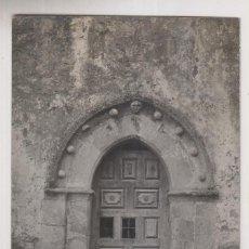 Postales: POSTAL FOTOGRÁFICA. PORTADA DE LA IGLESIA DE ABAMIA, CANGAS DE ONÍS, ASTURIAS. FOTO COLLADA. Lote 244538890