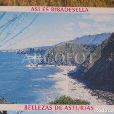 Postales: ACORDEÓN 10 POSTALES - BELLEZAS DE ASTURIAS - ASÍ ES RIBADESELLA - VER FOTOS. Lote 244607370