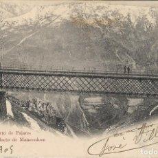 Postales: POSTAL ANTIGUA DE PUERTO DE PAJARES, VIADUCTO DE MATARREDONA. 19-1-1909ASTURIAS. Lote 244648940