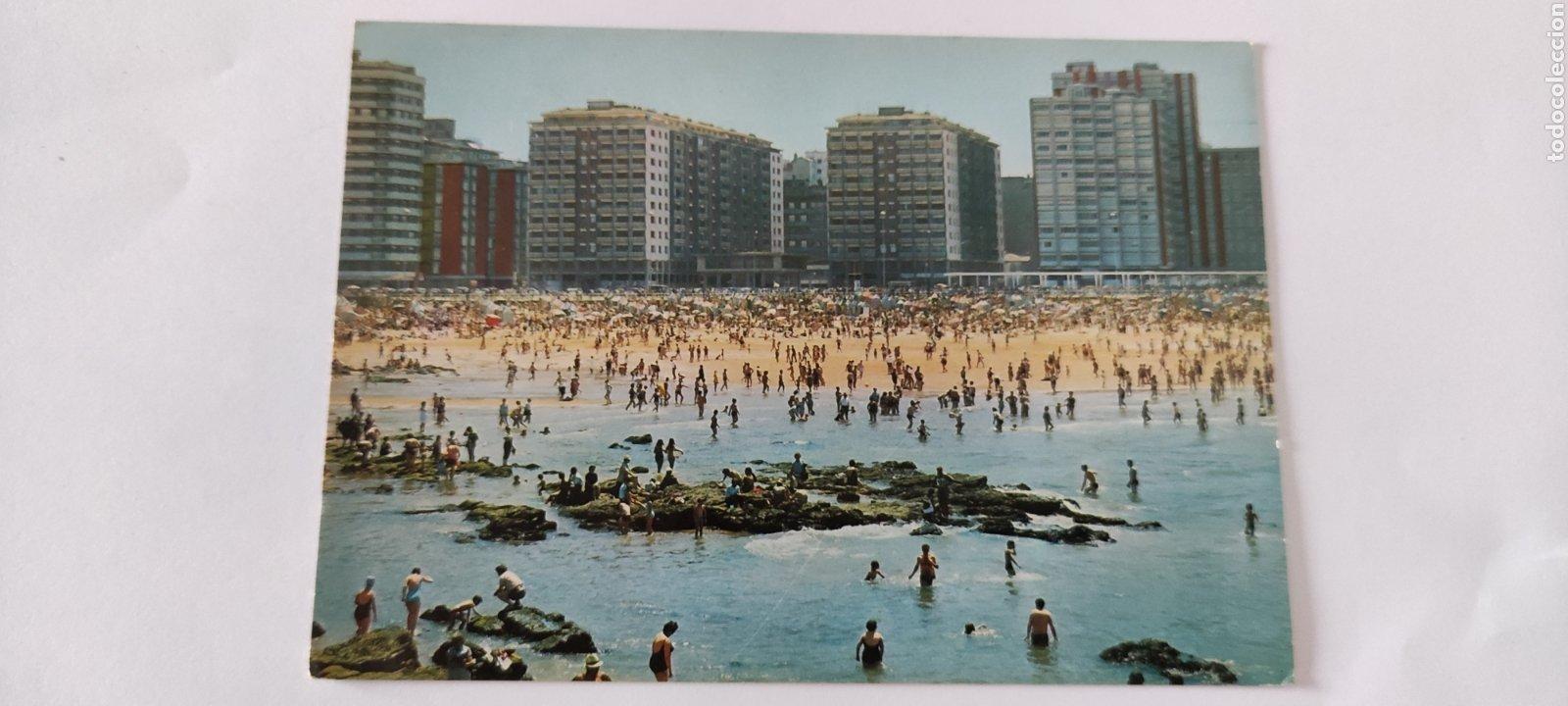 POSTAL 12 GIJÓN. PLAYA DE SAN LORENZO. (Postales - España - Asturias Moderna (desde 1.940))