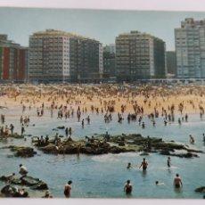 Cartes Postales: POSTAL 12 GIJÓN. PLAYA DE SAN LORENZO.. Lote 244727505