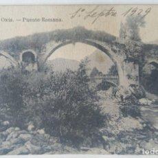 Postales: CANGAS DE ONIS PUENTE ROMANO. Lote 244789920