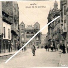 Postales: PRECIOSA POSTAL - GIJON (ASTURIAS) - CALLE DE PI MARGALL. Lote 248193390