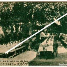 """Postales: RARISIMA POSTAL - GIJON - """"VENECIA"""" MERENDERO DE VERIÑA - LA FE - GIJON. Lote 248271855"""