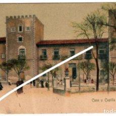 Postales: PRECIOSA POSTAL - GIJON (ASTURIAS) - CASA Y CAPILLA DE VALDES. Lote 248461790