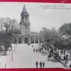 Postales: GIJONN IGLESIA DE SAN PEDRO 1965 HAUSER Y MENET MADRID. Lote 248740565