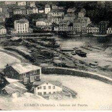 Cartes Postales: BONITA POSTAL - LUARCA (ASTURIAS) - INTERIOR DEL PUERTO. Lote 251574370