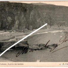 Cartes Postales: BONITA Y RARA POSTAL - LUARCA (ASTURIAS) - PLAYA DE BAÑOS - E. GOMEZ - FOTOGRAFO. Lote 251581975