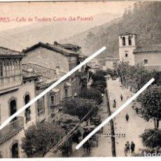 Postales: PRECIOSA POSTAL - MIERES (ASTURIAS) CALLE DE TEODORO CUESTA (LA PASERA) ED.BARCENA HERMANOS - MIERES. Lote 251588295