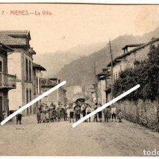 Postales: PRECIOSA POSTAL - MIERES (ASTURIAS) - LA VILLA - EDITORES: BÁRCENA HERMANOS - MIERES. Lote 251588495