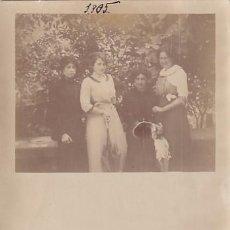 Postales: POSTAL FOTOGRÁFICA, CON LA IMAGEN Y LA FIRMA DE LA PINTORA JULIA ALCAYDE MONTOYA GIJÓN 1905. Lote 252935875