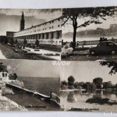 Postales: GIJÓN. CUATRO VISTAS. EDICIONES SICILIA. - ZARAGOZA. CIRCA: 1967. Lote 254388885
