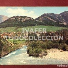 Postales: POSTAL ARENAS DE CABRALES, ASTURIAS, RIO CARES, RUTA DE LOS PICOS DE EUROPA. Lote 254463480