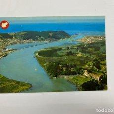 Postales: TARJETA POSTAL. ASTURIAS. Nº 824.- SAN ESTEBAN DE PRAVIA Y S. JUAN DE LA ARENA. VISTA AÉREA. Lote 254789990