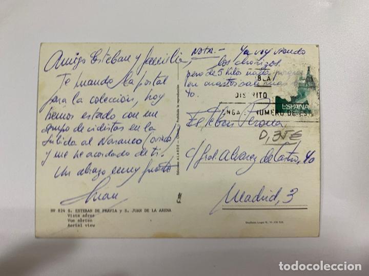 Postales: TARJETA POSTAL. ASTURIAS. Nº 824.- SAN ESTEBAN DE PRAVIA Y S. JUAN DE LA ARENA. VISTA AÉREA - Foto 2 - 254789990