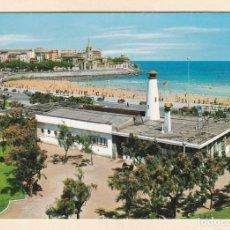 Postales: POSTAL CLUB NAUTICO Y PLAYA DE SAN LORENZO. GIJON (1969). Lote 261290105