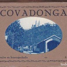 Postales: COVADONGA BLOC CON 12 POSTALES. ED. HUECOGRABADO MUMBRÚ. Lote 261982720