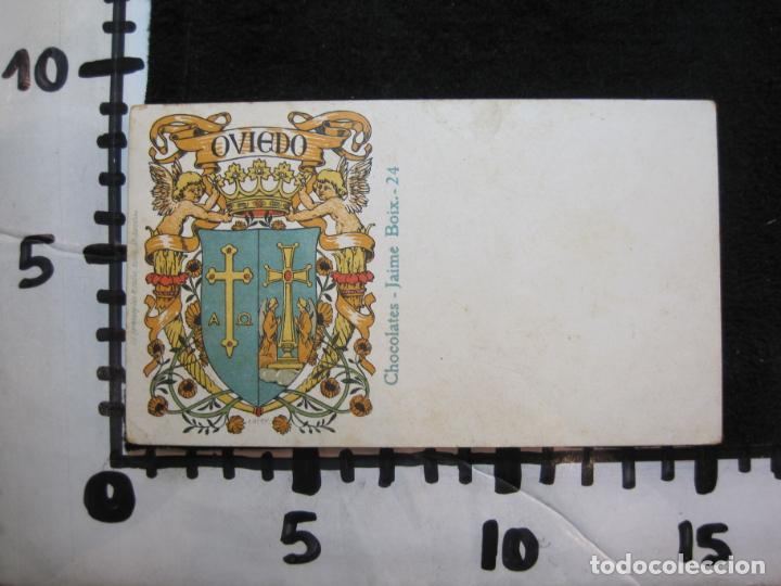 Postales: OVIEDO-ESCUDO-DIBUJO TRIADO-CHOCOLATES JAIME BOIX-REVERSO SIN DIVIDIR-POSTAL ANTIGUA-(80.393) - Foto 4 - 262283365