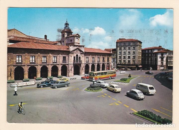 POSTAL PLAZA MAYOR Y AYUNTAMIENTO. AVILES (1971) (Postales - España - Asturias Moderna (desde 1.940))