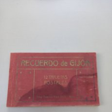 Postales: ANTIGUO CUADERNILLO RECUERDO DE GIJON 12 POSTALES EDITOR FRANCISCO MATOS DAVILA. Lote 263553965