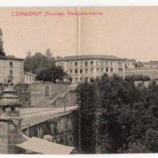 Postales: POSTAL DE COVADONGA (ASTURIAS). VISTA PANORAMICA DOBLE. FOTOTIPIA THOMAS. SIN CIRCULAR.. Lote 263654815