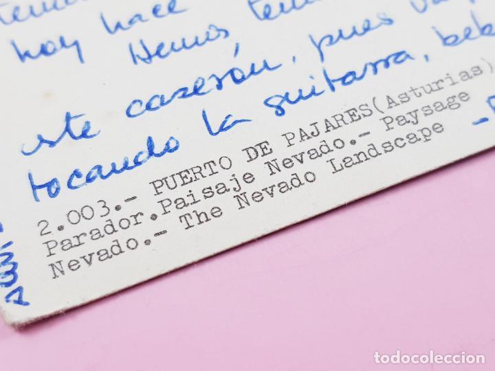 Postales: POSTAL-PUERTO DE PAJARES-ASTURIAS-PARADOR-1968-ESCRITA-SIN CIRCULAR-COLECCIONISTAS. - Foto 3 - 264474929