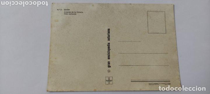 Postales: POSTAL 5 GIJÓN AVENIDA DE LA VICTORIA 1972 - Foto 2 - 264750944
