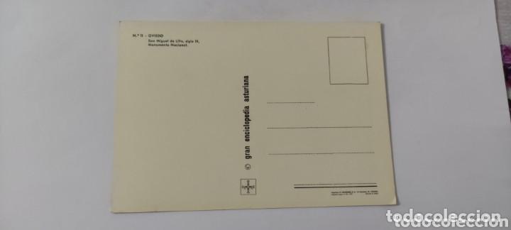 Postales: POSTAL 11 OVIEDO. SAN MIGUEL DE LILLO, SIGLO IX, MONUMENTO NACIONAL. 1972 - Foto 2 - 264759514
