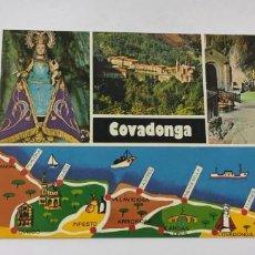 Postales: POSTAL 71 (B) COVADONGA RUTA TURÍSTICA. Lote 264759869