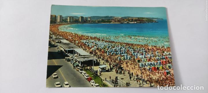 POSTAL 306 GIJÓN PLAYA DE SAN LORENZO (Postales - España - Asturias Moderna (desde 1.940))