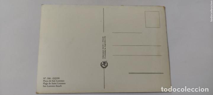 Postales: POSTAL 306 GIJÓN PLAYA DE SAN LORENZO - Foto 2 - 264760864