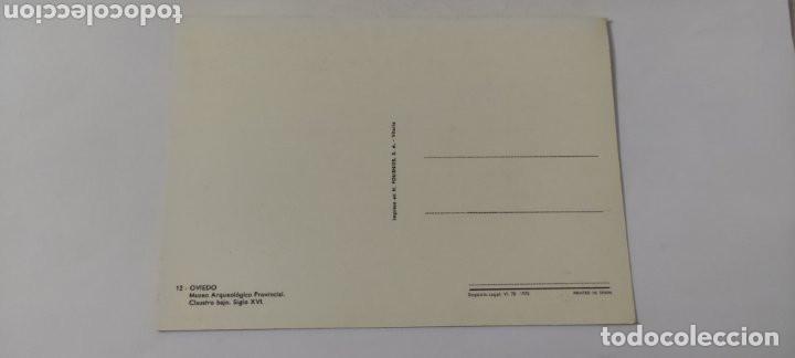 Postales: POSTAL 12 OVIEDO MUSEO ARQUEOLÓGICO PROVINCIAL 1975 - Foto 2 - 264761069
