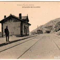 Cartes Postales: BONITA POSTAL - ESTACION DE PAJARES (ASTURIAS) - LIBRERIA ESCOLAR - OVIEDO. Lote 267795474