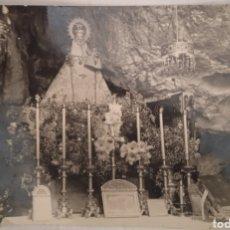 Postais: SANTUARIO VIRGEN DE COVADONGA ÁNTIGUA TARJETA POSTAL FOTOGRÁFICA CIRCULADA. Lote 267862819
