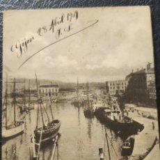 Cartes Postales: ANTIGUA POSTAL GIJÓN MUELLE DE ABTAO 1909 CIRCULADA. Lote 268408704