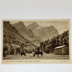 Cartes Postales: POSTAL ASTURIAS. EN EL CAMINO DE POSADA A CAÍN. HUECOGRABADO RIUSSET.. Lote 269142323