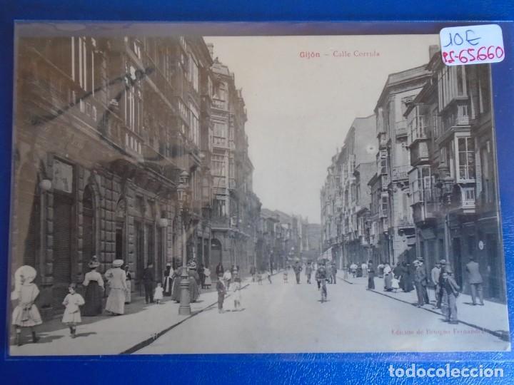 (PS-65660)POSTAL DE GIJON-CALLE CORREDERA.EDICION DE BENIGNO FERNANDEZ (Postales - España - Asturias Antigua (hasta 1.939))