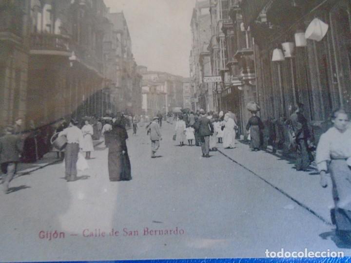 Postales: (PS-65667)POSTAL DE GIJON-CALLE DE SAN BERNARDO.EDICION BENIGNO FERNANDEZ - Foto 2 - 269247903